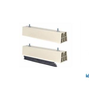 Base a pavimento in PVC per unità esterna