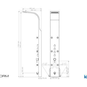 Colonna doccia Metaform modello Niagara