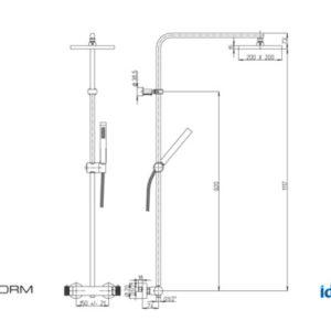 Colonna doccia regolabile Syncro Plus